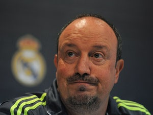 Real Madrid manager Rafa Benitez holds a press conference after the Real Madrid training session ahead of the La Liga match between Real Madrid and Barcelona at Valdebebas training ground on November 20, 2015