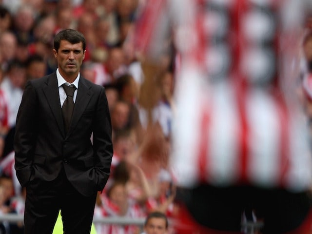 Sunderland manager Roy Keane looks on during the Barclays Premier League match between Sunderland and Tottenham Hotspur at the Stadium of Light on August 11, 2007 in Sunderland, England.