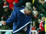Sam Allardyce, manager of Sunderland celebrates his team's second goal during the Barclays Premier League match between Sunderland and Stoke City at Stadium of Light on November 28, 2015
