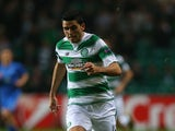 Tomas Rogic of Celtic controls the ball during the UEFA Europa League match between Celtic FC and Molde FK at Celtic Park on November 5, 2015