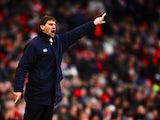 Tony Adams the Portsmouth manager shouts instructions from the touchline during the Barclays Premier League match between Arsenal and Portsmouth at the Emirates Stadium on December 28, 2008