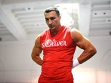 Wladimir Klitschko works out at Jordan Brand's Terminal 23 in New York April 22, 2015