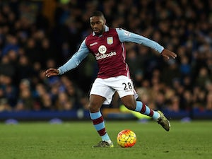Charles N'Zogbia of Aston Villa during the Barclays Premier League match between Everton and Aston Villa at Goodison Park on November 21, 2015 in Liverpool, England.