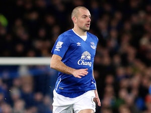 Darron Gibson of Everton during the Barclays Premier League match between Everton and Aston Villa at Goodison Park on November 21, 2015 in Liverpool, England.