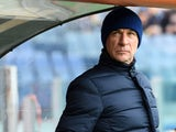 Head coach Davide Ballardinio of Palermo looks on during the Serie A match between SS Lazio and US Citta di Palermo at Stadio Olimpico on November 22, 2015