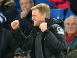 Bournemouth's English manager Eddie Howe celebrates winning after the English Premier League football match between Chelsea and Bournemouth at Stamford Bridge in London on December 5, 2015.