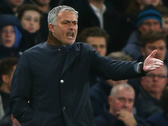 Jose Mourinho Manager of Chelsea gestures during the Barclays Premier League match between Chelsea and A.F.C. Bournemouth at Stamford Bridge on December 5, 2015 in London, England.