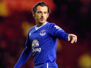 Leighton Baines of Everton during their Capital One Cup Quarter Final at Riverside Stadium on December 1, 2015 in Middlesbrough, England.