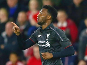 Daniel Sturridge of Liverpool celebrates as he scores their first goal during the Capital One Cup quarter final match between Southampton and Liverpool at St Mary's Stadium on December 2, 2015 in Southampton, England.