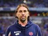 Mainz' Swiss head coach Martin Schmidt is pictured during the German first division Bundesliga football match FC Schalke 04 v 1 FSV Mainz 05, in Gelsenkirchen, on September 13, 2015