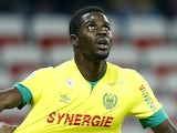 Nice's French defender Romain Genevois (L) vies with Nantes' Senegalese defender Papy Mison Djilibodji (R) during the French L1 football match between Nice and Nantes on february 8, 2015 at the Allianz Riviera stadium in Nice, southeastern France.