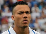 A portrait picture of Honduras' midfielder Arnold Peralta posing before a match in San Pedro Sula, Honduras on October 16, 2012