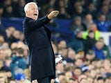 Crystal Palace's English manager Alan Pardew shouts instructions to his players from the touchline during the English Premier League football match between Everton and Crystal Palace at Goodison Park in Liverpool on December 7, 2015