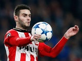 Gaston Pereiro of PSV in action during the group B UEFA Champions League match between PSV Eindhoven and CSKA Moscow held at Philips Stadium, on December 8, 2015