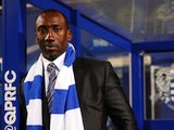 New Queens Park Rangers manager Jimmy Floyd Hasselbaink at Loftus Road on December 7, 2015