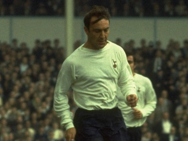 Jimmy Greaves of Tottenham Hotspur in action during a league match.