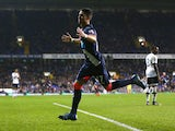 Ayoze Perez of Newcastle United celebrates as he scores their second goal during the Barclays Premier League match between Tottenham Hotspur and Newcastle United at White Hart Lane on December 13, 2015