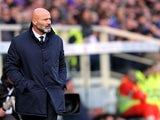 Stefano Colantuono head coach of Udinese Calcio looks during the Serie A match between ACF Fiorentina and Udinese Calcio at Stadio Artemio Franchi on December 6, 2015