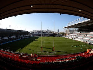 A general view of the stadium ahead of the Aviva Premiership match between Leicester Tigers and Wasps at Welford Road on November 1, 2015