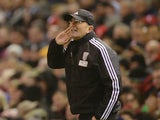 West Bromwich Albion's Welsh head coach Tony Pulis gestures on the touchline during the English Premier League football match between Liverpool and West Bromwich Albion at Anfield in Liverpool, northwest England, on December 13, 2015