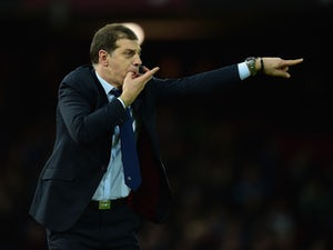 Slaven Bilic manager of West Ham United gestures during the Barclays Premier League match between West Ham United and Stoke City at the Boleyn Ground on December 12, 2015