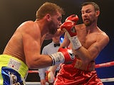 Billy Joe Saunders beats Andy Lee in their WBO world middleweight bout at Manchester Arena on December 19, 2015.
