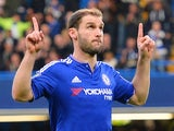Branislav Ivanovic celebrates scoring for Chelsea against Sunderland on December 19, 2015