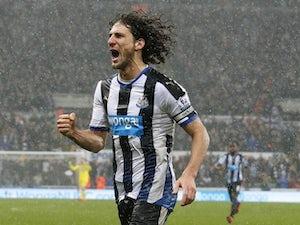 Fabricio Coloccini celebrates scoring Newcastle's opener against Aston Villa on December 19, 2015