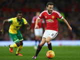 Juan Mata in action during Manchester United's game with Norwich on December 19, 2015