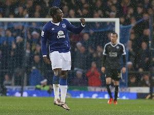 Romelu Lukaku celebrates scoring for Everton against Leicester on December 19, 2015