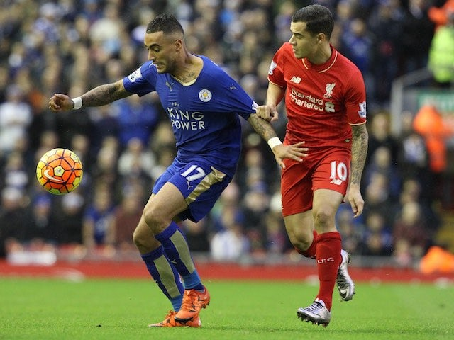 Leicester City S Danny Simpson Is Pursued By Philippe Coutinho Of Liverpool On December 26 2015 Sports Mole
