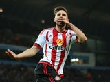 Fabio Borini eats his own hand after pulling one back for Sunderland against Man City on December 26, 2015
