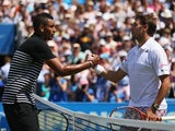 Nick Kyrgios and Stanislas Wawrinka at the Aegon Championships on June 16, 2015