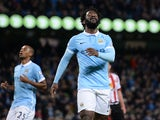Wilfred Bony reacts after missing a penalty for Man City against Sunderland on December 26, 2015