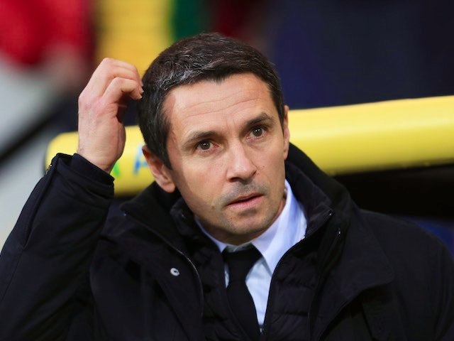 Aston Villa manager Remi Garde during the game with Norwich City on December 28, 2015