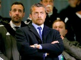 New Fulham manager Slavisa Jokanovic watches from the stands as his side take on Rotherham on December 29, 2015