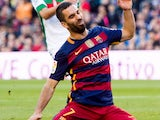 Arda Turan in action during the game between Barcelona and Granada on January 9, 2016