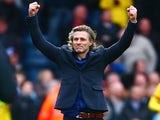 Gareth Ainsworth cheers after the FA Cup game between Wycombe Wanderers and Aston Villa on January 9, 2016
