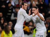 Gareth Bale slaps Daniel Carvajal in the face during the game between Real Madrid and Deportivo La Coruna on January 9, 2016
