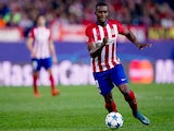 Atletico Madrid's Jackson Martinez in action against Astana in the Champions League on October 21, 2015