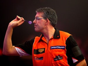 Jeff Smith in action during the BDO Lakeside World Professional Darts Championships on January 10, 2015