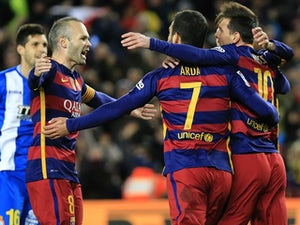 Messi scores twice in Barcelona win