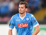 Manolo Gabbiadini in action for Napoli on November 5, 2015