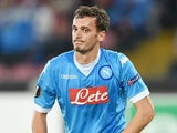 Manolo Gabbiadini in action for Napoli on November 5, 2015