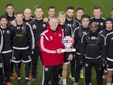 Sheffield United boss Nigel Adkins poses with his Manager of the Month award for December 2015