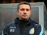 Remi Garde appears ahead of the FA Cup game between Wycombe Wanderers and Aston Villa on January 9, 2016