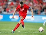 Steven Gerrard in action for Liverpool Legends against Aussie Legends on January 7, 2016