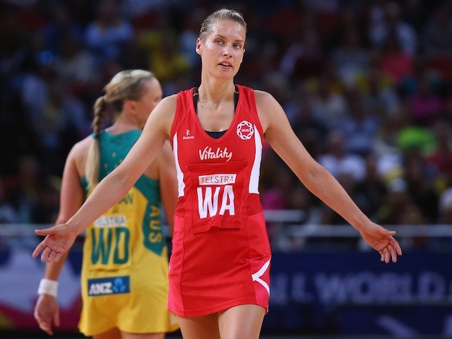 Tamsin Greenway in action for England on August 11, 2015