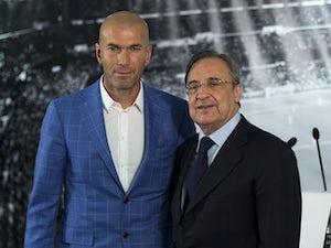 Florentino Perez hails Zinedine Zidane