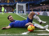 Branislav Ivanovic poses for the camera during the game between Chelsea and Everton on January 16, 2016